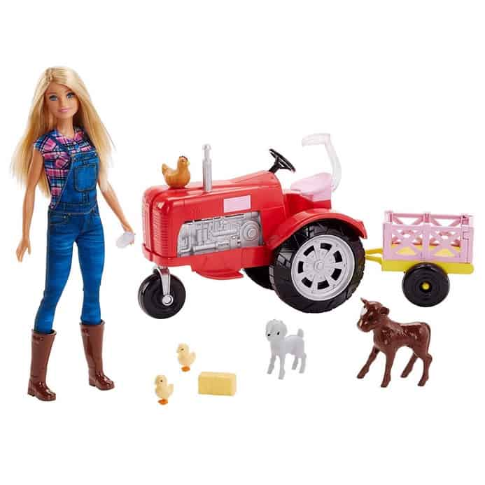 Barbie Doll and Tractor Only $12.37 (Was $30.99)