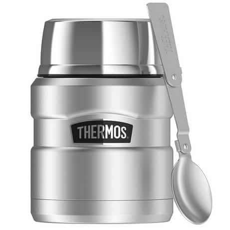 Thermos Stainless King 16 Ounce Food Jar with Folding Spoon $16