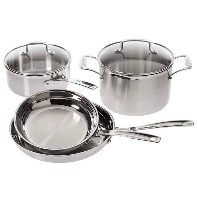 Cuisinart Multiclad Pro Stainless Steel 6-Piece Cookware Set $109.99 **Today Only**