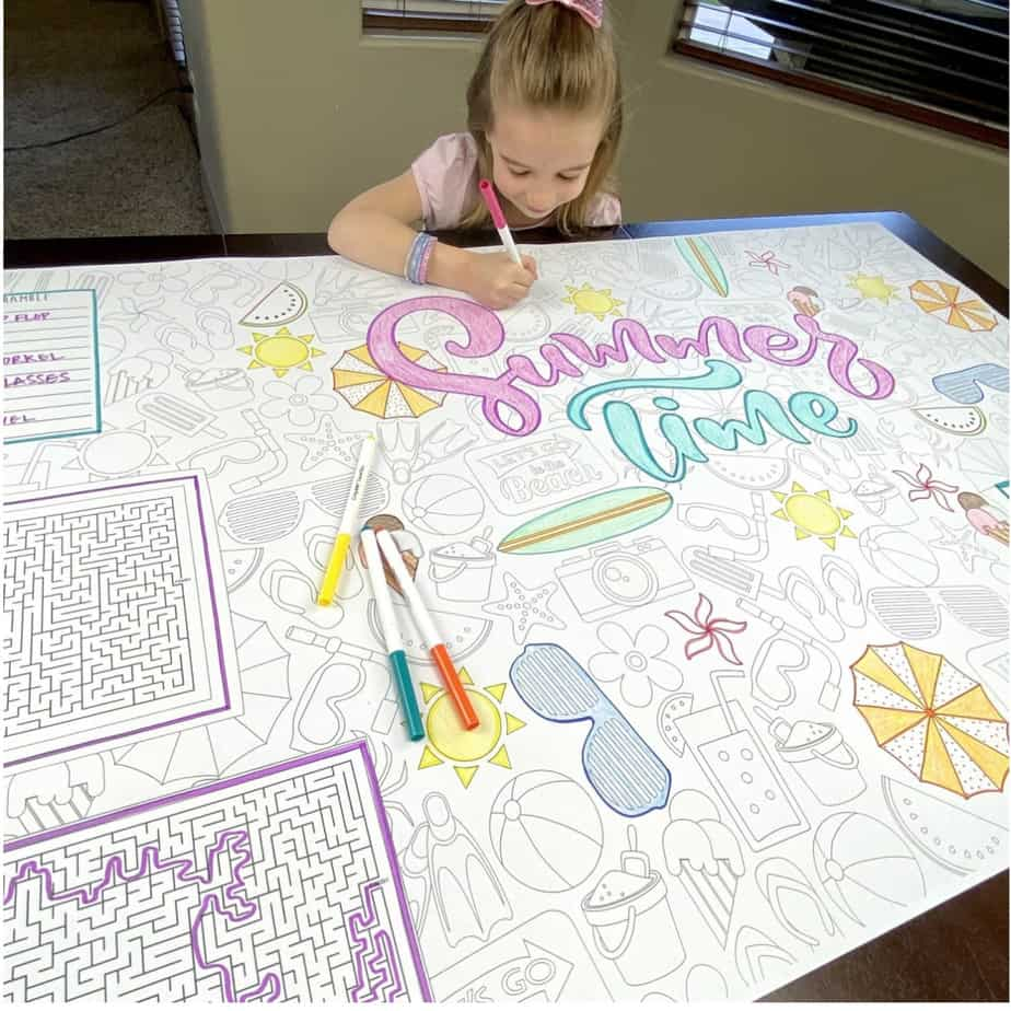 Huge Activity Coloring Sheets Only .99 **13 Designs**
