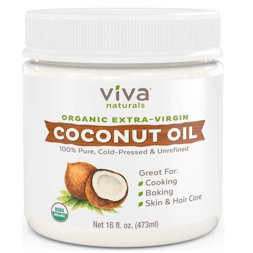 Viva Naturals Organic Extra Virgin Coconut Oil Only $9.95