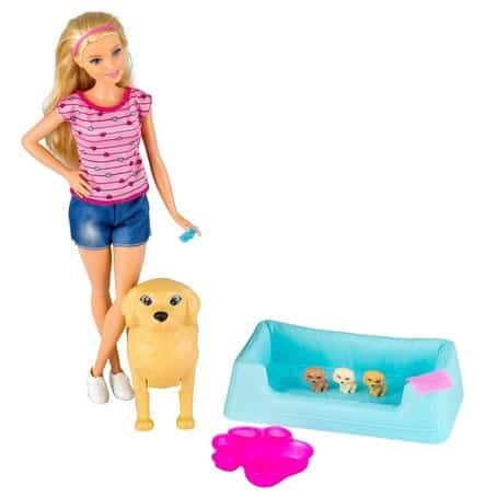 Barbie Newborn Pups Doll & Pets Only $11.99