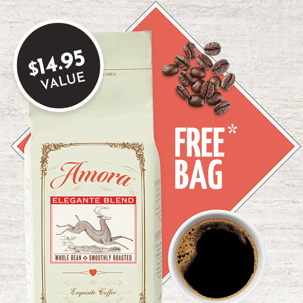 FREE Large Bag of Amora Coffee - Just Pay .00 Shipping