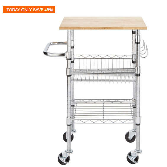 Home Depot: Up to 45% off Kitchen Carts & Faucets   SwagGrabber