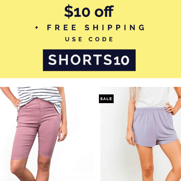 Cents of Style: Women's Shorts ONLY $10 Shipped