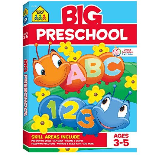 School Zone - Big Preschool Workbook - Ages 3 to 5, Only $5.02 (Was $12.99)