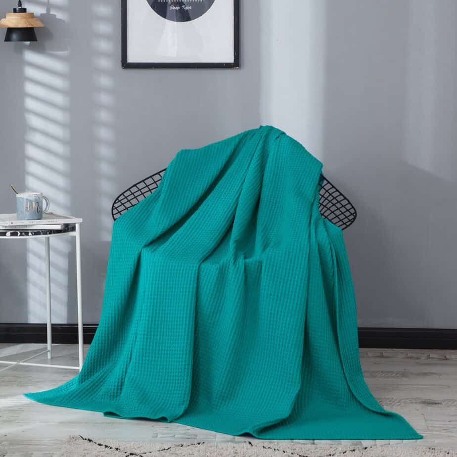 PHF Cotton Waffle Weave Bed Blanket Lightweight $26.24