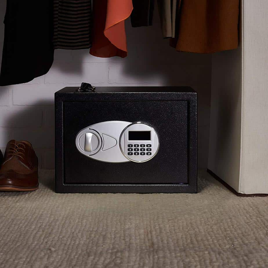 AmazonBasics Security Safe Box, 0.5 Cubic Feet Only $35.61