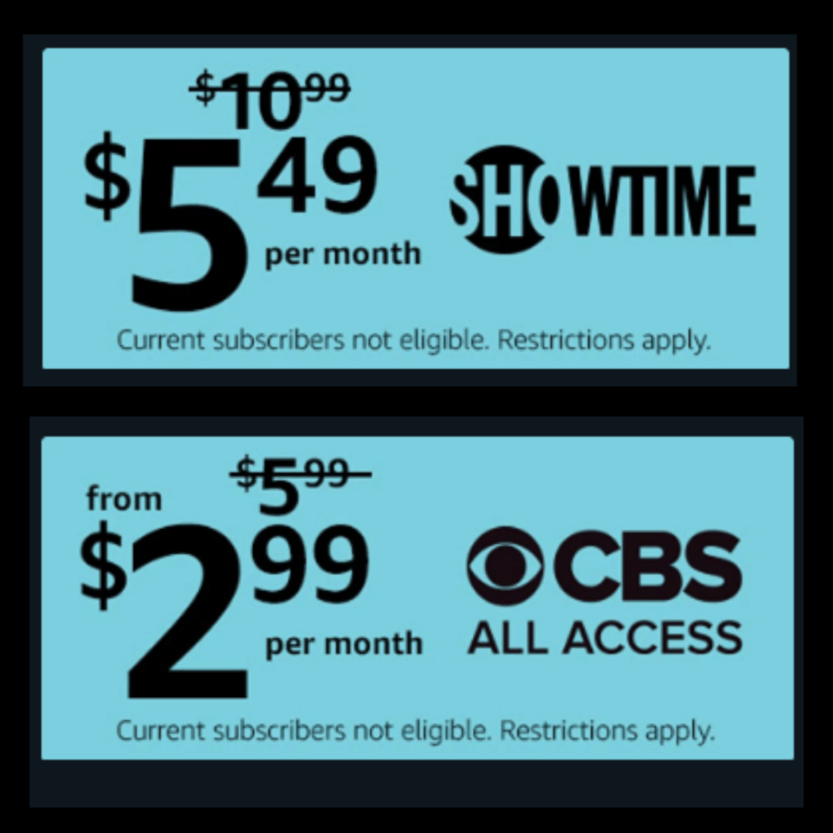 50% off Showtime, Starz, PBS Kids, Noggin and More for Prime Members