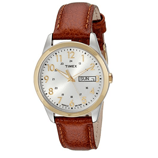 Timex Men's South Street Sport Brown Leather Strap Watch $9 (Was $38)