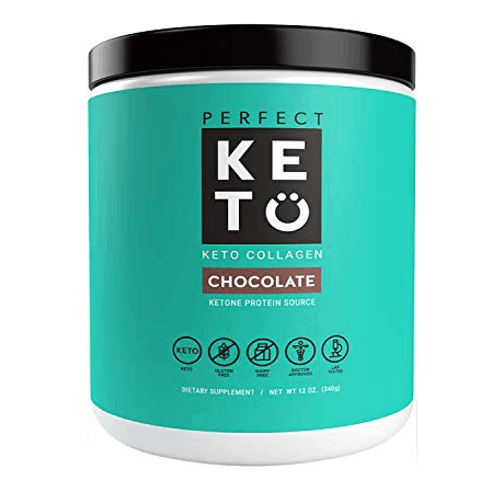 Perfect Keto Chocolate Protein Powder: Low Carb Keto Drink Supplement with MCT Oil Only $7.80 **Expired**