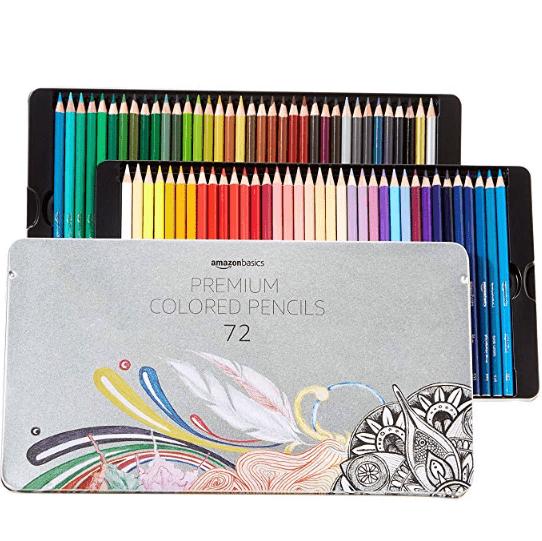 AmazonBasics Colored Pencils - 72-Count Set $17.77
