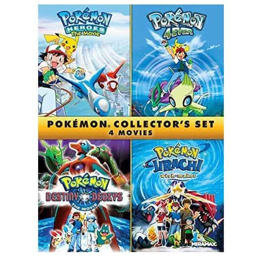 Pokémon Collectors 4-Film Set [DVD] Now .74 (Was .98)