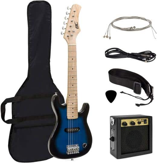 30in Kids Electric Guitar Instrument Starter Kit w/ 5W Amp, Strap, Case $39.99 (Was $144)