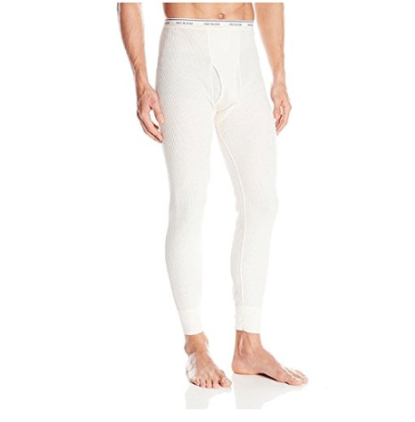 2 Pack of Fruit of the Loom Men's Thermal Underwear Bottoms ONLY $1.99