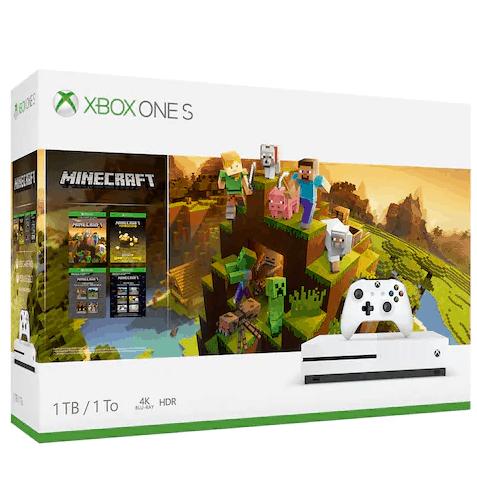 Xbox One S 1TB Minecraft Starter & Creators Pack Console Bundle $140
