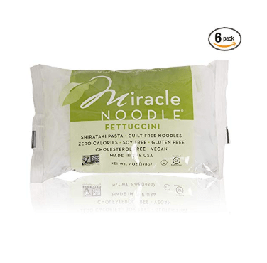 6 Pack of Miracle Noodle Shirataki Konjac Fettuccine Noodles, 7 oz Only $10.43