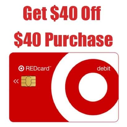 $40 Off Any $40 Target Purchase with REDCard Sign Up