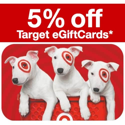 5% Off Target eGiftCards **Today Only**