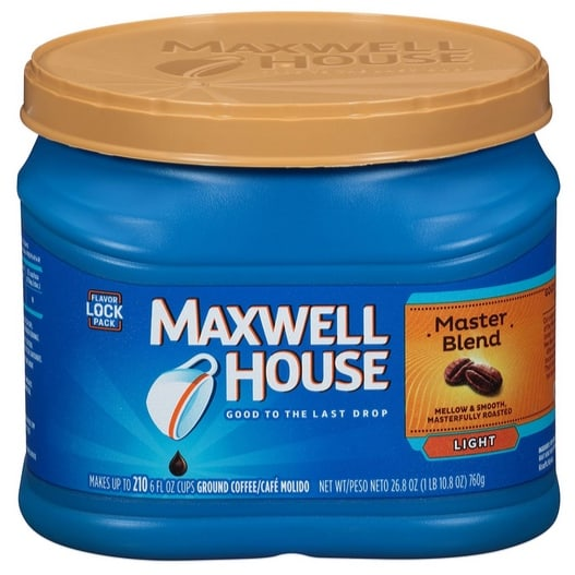 Maxwell House Ground Coffee, Master Blend, 26.8 Ounce Only $3.71