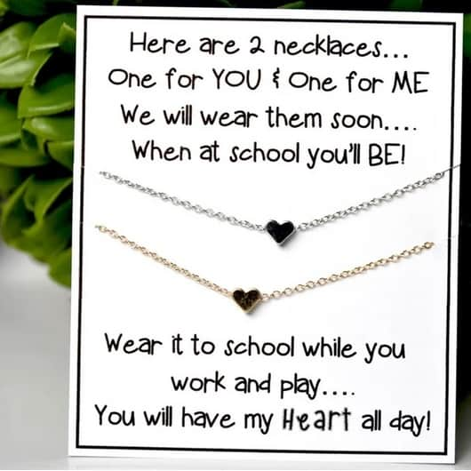 Back to School Heart Necklaces Only $4.99