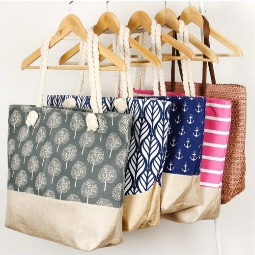 Printed Summer Totes Only $6.99