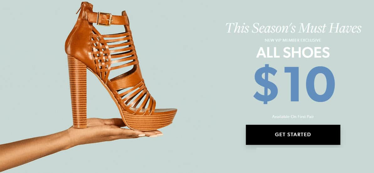 JustFab 75% Off Discount =  Shoes + Free Shipping