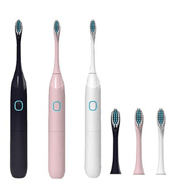 Electric Toothbrush IPX7 with 2 Extra Replacement Brush Heads Only $8.59  **80% OFF**