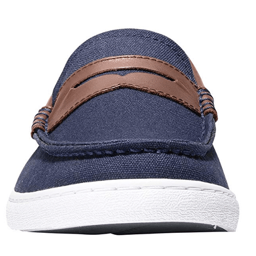 Cole Haan Men's Nantucket Loafer, Blazer Blue Textile/Chestnut Leather .22 (Was )
