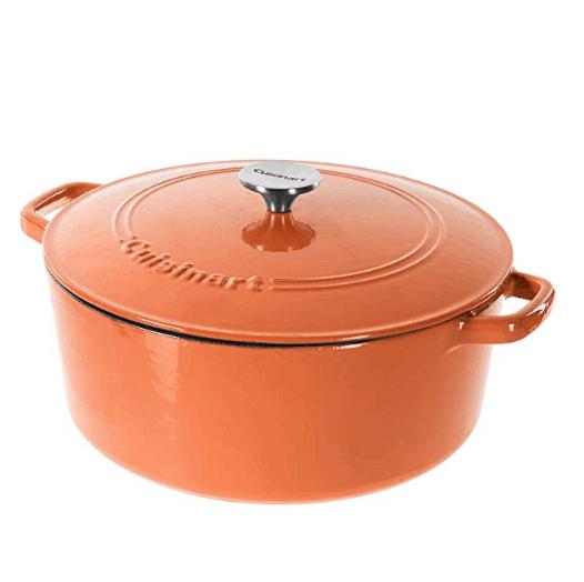 HURRY Half off Cuisinart Cast Iron Casserole Pots -Terracotta Orange .99 (Was 9.99)