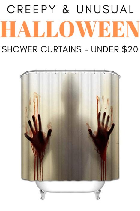 Creepy Halloween Shower Curtains