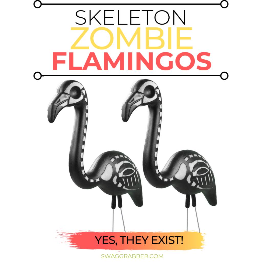Skeleton Flamingo Yard Ornaments - Yep, These Exist