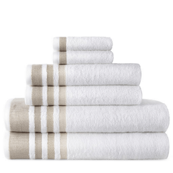 JCPenney: 6 Piece Home Expressions Bath Towel Set .49 (Was )