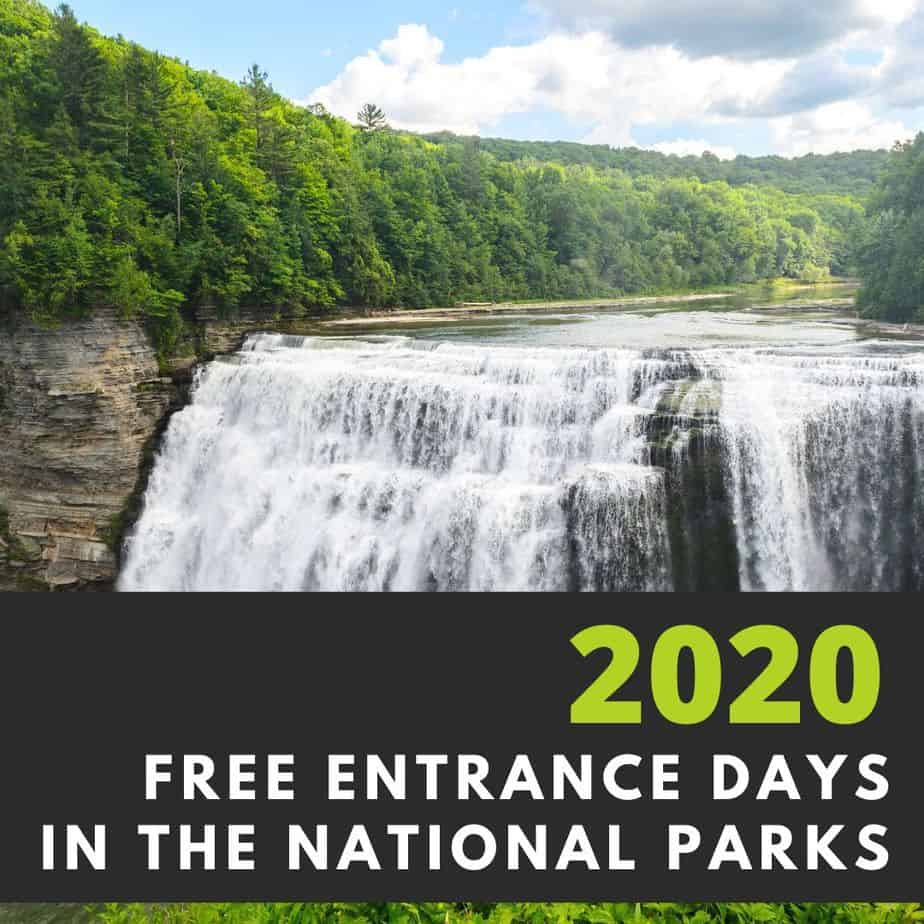 2020 Free Entrance Days in the National Parks
