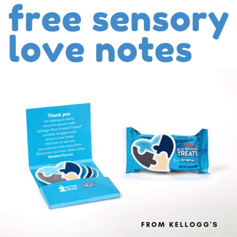 FREE Sensory 'Love Notes' from Kellogg's