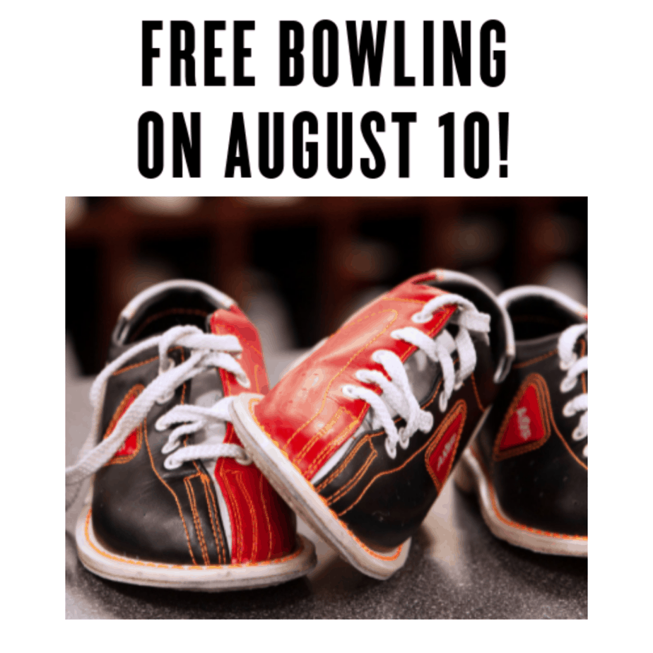 2 Free Games of Bowling on August 10