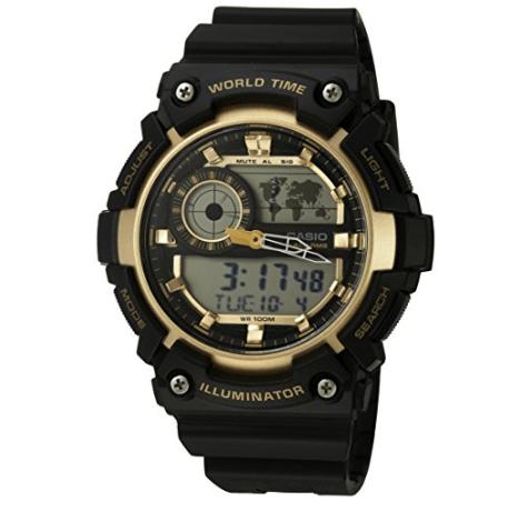 Casio Men's 'Super Illuminator' Quartz Resin Casual Watch Only $9.00