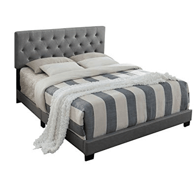 Austin Upholstered Bed with Diamond Stitched Tufted Head Board, Queen 1.50