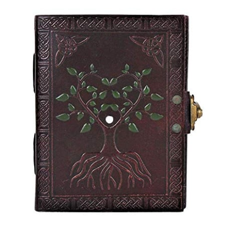 Hand Painted Tree of Life Leather Journal ONLY .99