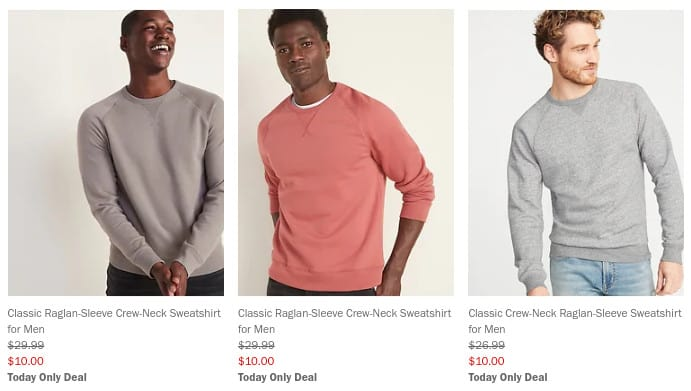 Old Navy: Men's & Women's Sweatshirts ONLY  **Today Only**