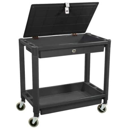 Astro Pneumatic Tool 2 Shelf Plastic Cart with Locking Lid ONLY .52 (Was 4)