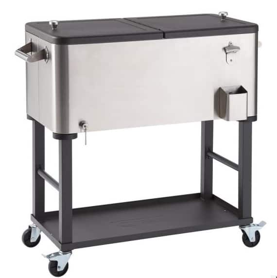 Home Depot: 100 Qt./25 Gal. Stainless Steel Wheeled Cooler with Detachable Tub 9 (Was 0)