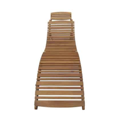 Home Depot: Noble House Lahaina Natural Wood Outdoor Chaise Lounge