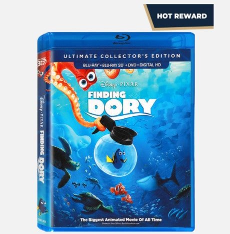 Disney Movie Rewards: FREE Finding Dory Blu-ray for 400 Points
