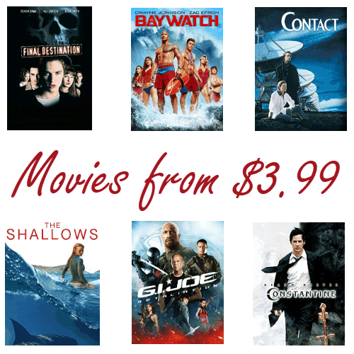 Amazon: Buy Movies for Only $3.99 - Contact, Baywatch, Gi Joe, and More!