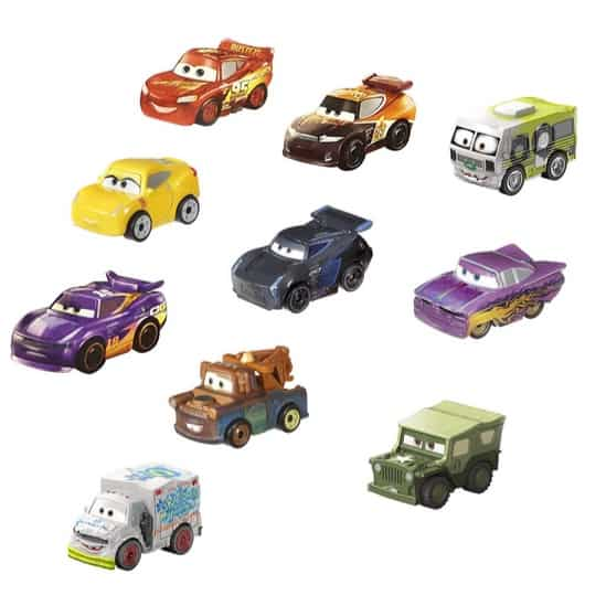 Disney Pixar Cars Mini Racers 10-Pack Only .99