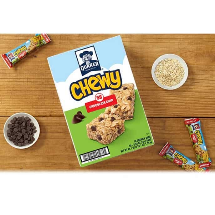 Up to 53% Off Quaker Chewy Bars ~ 58 Count Chocolate Chip Granola Bars Only .32 **Today Only**