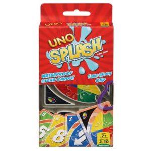 Mattel Games UNO Splash Card Game Only .99