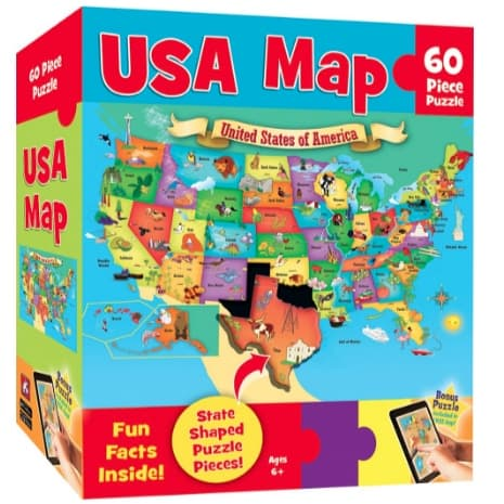 USA Map 60 Piece Kids Puzzle Now .33