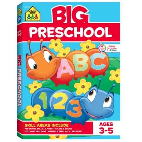 School Zone Big Preschool Workbook Now .01 (Was .99)